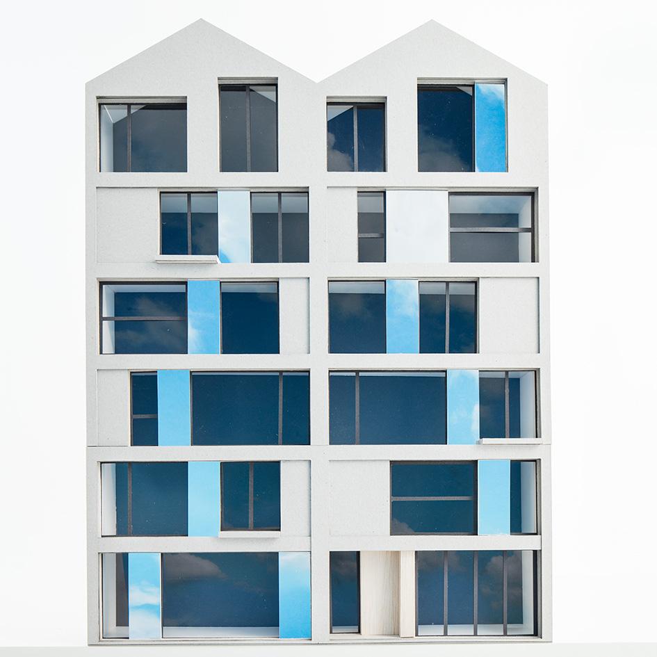 Reflective street facade
