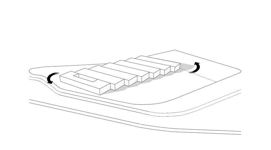 Rotation warehouse units light and view optimization