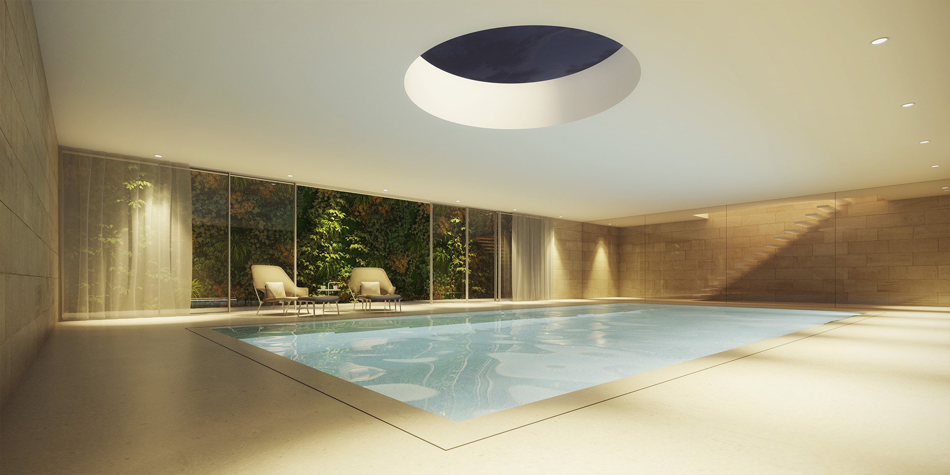 Underground swimming pool hofmandujardin for Underground swimming pool designs