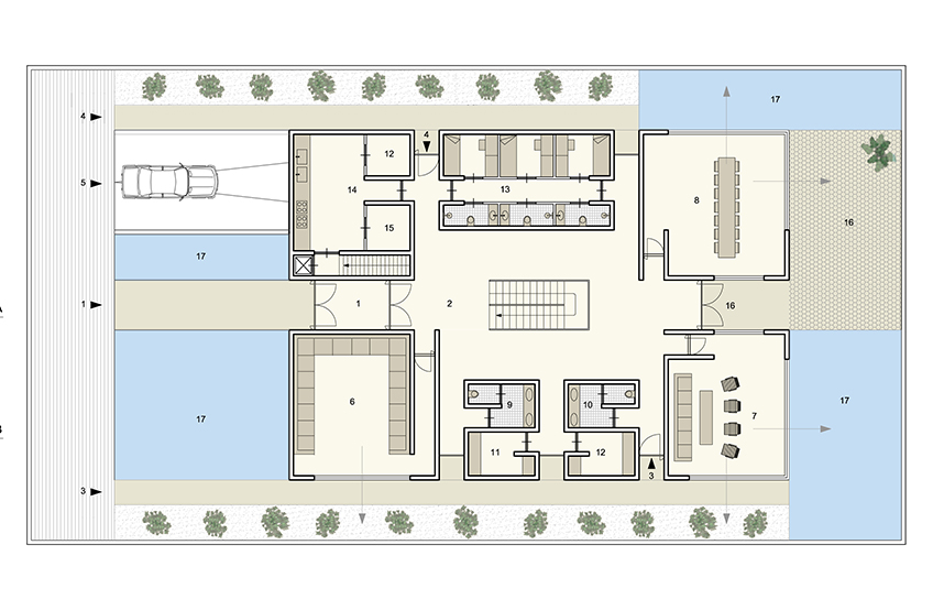 Plan ground floor formal living